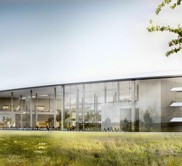 Konstrukce pro sídlo Apple inc.